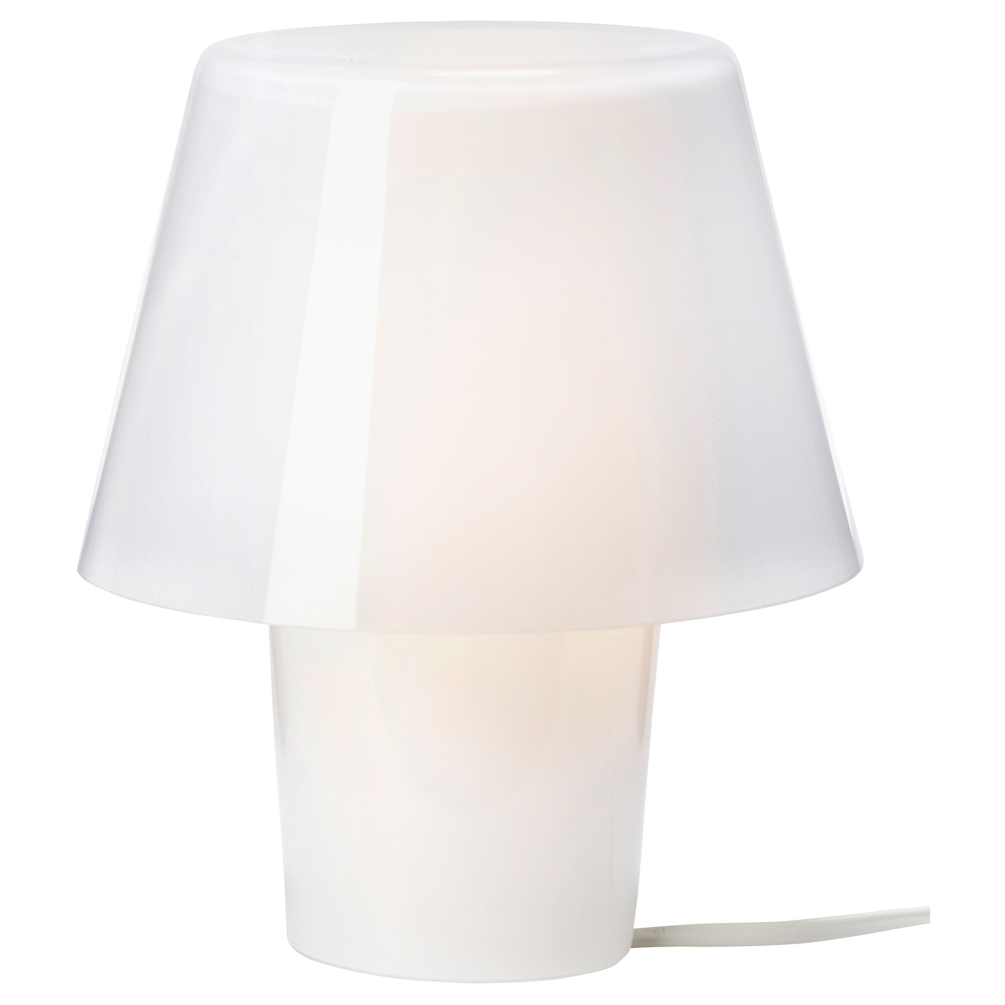 Frosted glass white IKEA | Table lamp